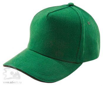 Бейсболка «Unit Classic», зеленая с черным