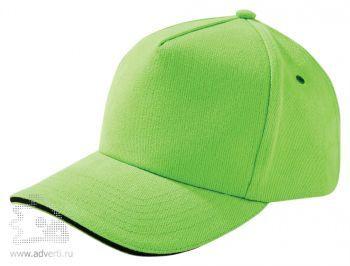 Бейсболка «Unit Classic», светло-зеленая с черным