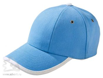 Бейсболка «Unit Trendy», голубая с белым