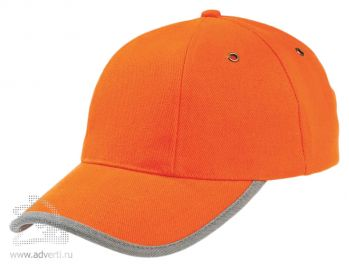 Бейсболка «Unit Trendy», оранжевая с серым