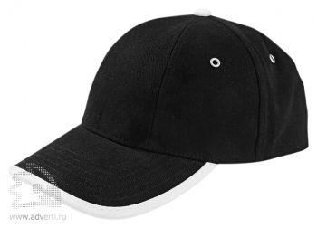 Бейсболка «Unit Trendy», черная с белым