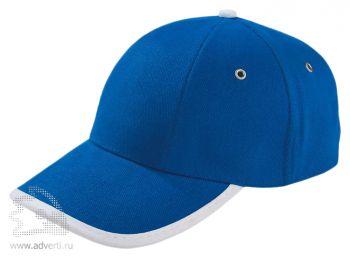 Бейсболка «Unit Trendy», синяя с белым