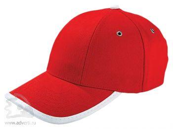 Бейсболка «Unit Trendy», красная с белым