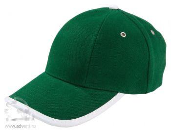 Бейсболка «Unit Trendy», зеленая с белым
