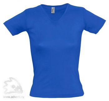 Футболка с V-обр. вырезом «Lady 220», женская, синяя