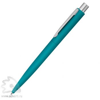 Ручка шариковая металлическая «Lumos», soft-touch, бирюзовая