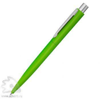 Ручка шариковая металлическая «Lumos», soft-touch, салатовая