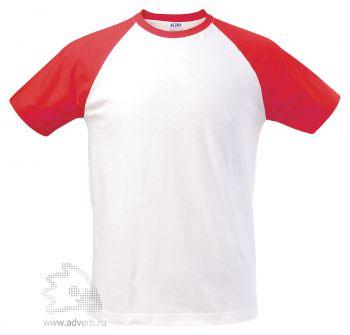 Футболка двухцветная «Funky 150», мужская, белая с красным