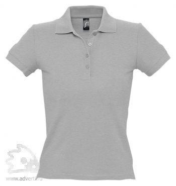 Рубашка поло «People 210», женская, серая