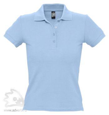 Рубашка поло «People 210», женская, голубая