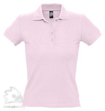Рубашка поло «People 210», женская, светло-розовая