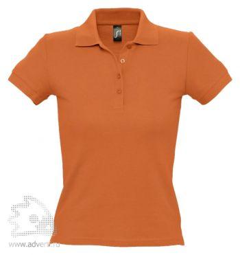 Рубашка поло «People 210», женская, оранжевая