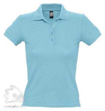 Рубашка поло «People 210», женская, бирюзовая