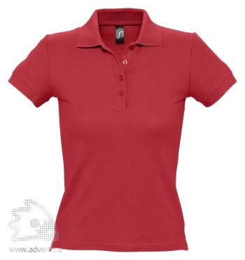 Рубашка поло «People 210», женская, красная