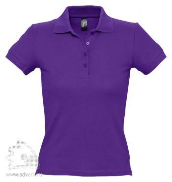 Рубашка поло «People 210», женская, темно-фиолетовая