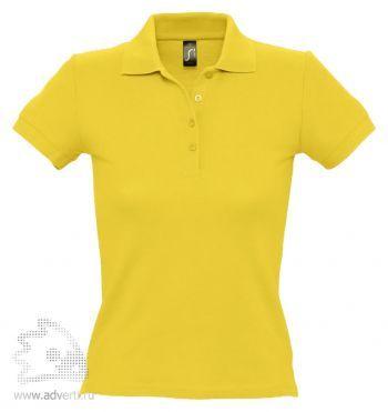 Рубашка поло «People 210», женская, желтая