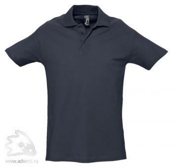 Рубашка поло «Spring 210», мужская, темно-синяя