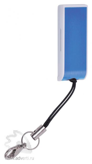 USB flash-карта «Slider», синяя, на шнурке