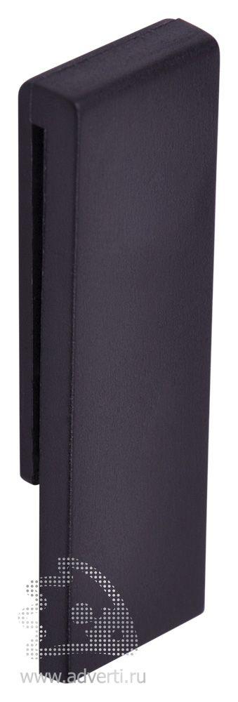 USB flash-карта «Clip», черная, оборот
