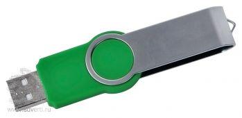 USB flash-карта «Swing», зеленая, открытая