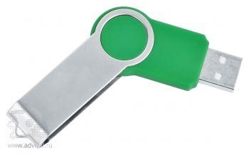 USB flash-карта «Swing», зеленая, полуоткрытая