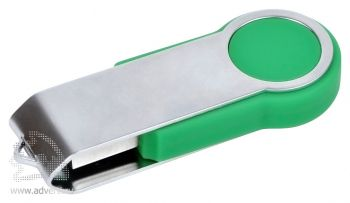 USB flash-карта «Swing», зеленая, закрытая