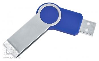 USB flash-карта «Swing», синяя, полуоткрытая