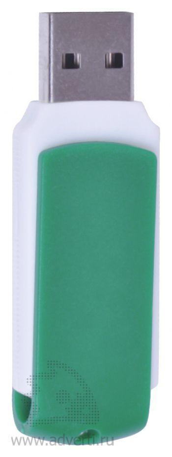 USB flash-карта «Easy», зеленая, открытая