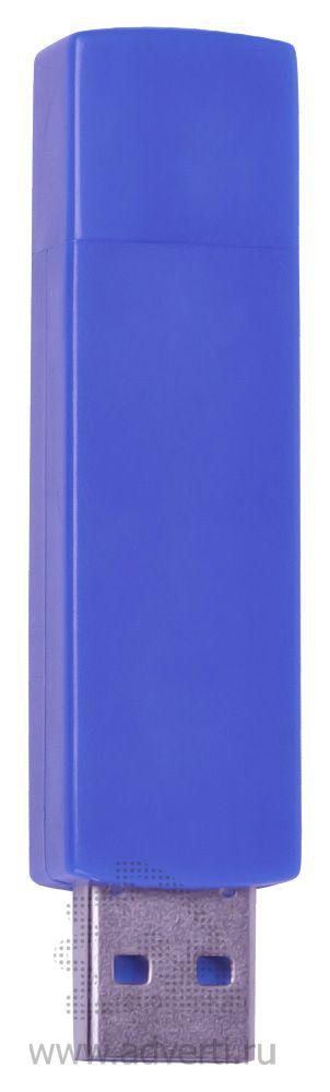 USB flash-карта «Twist», синяя открытая