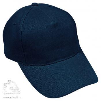 Бейсболка «Премиум», темно-синяя