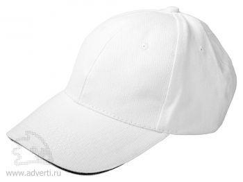 Бейсболка «Classic», белая с черным