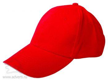Бейсболка «Classic», красная с белым