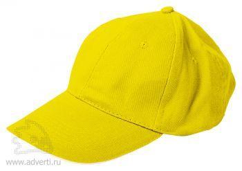 Бейсболка «Classic», желтая с белым