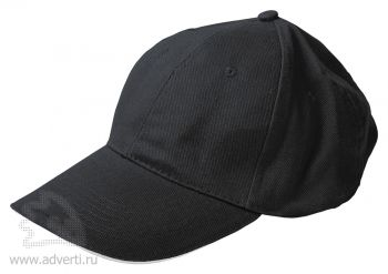 Бейсболка «Classic», черная с белым