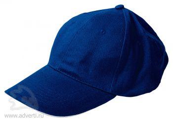 Бейсболка «Classic», темно-синяя с белым