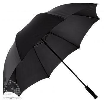 Зонт-трость «Антишторм», механический, черный