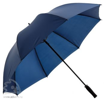Зонт-трость «Антишторм», механический, синий