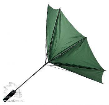 Зонт-трость «Антишторм», механический, зеленый