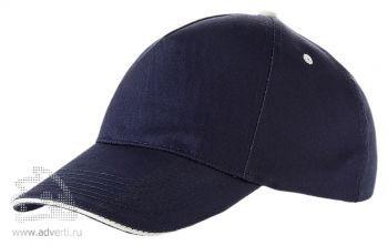 Бейсболка «Harvey», темно-синий/натуральный
