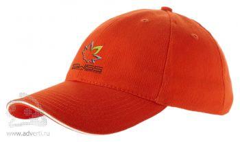 Бейсболка «Challenge-2», оранжевый/неокрашенный