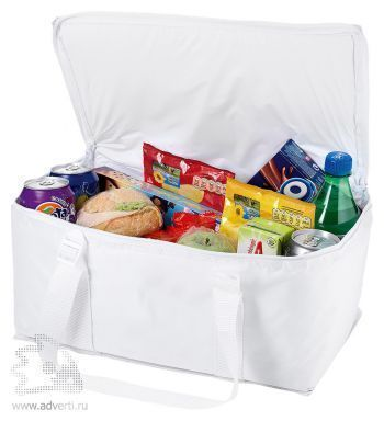 Сумка-холодильник на 12 банок, белая