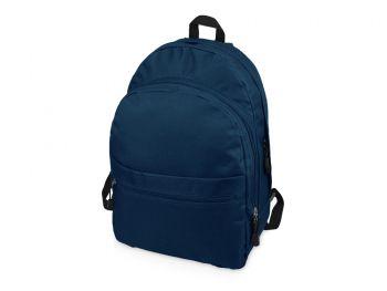 Рюкзак «Trend» с 2 отделениями на молнии и внешним карманом, синий(джинс)