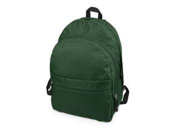 Рюкзак «Trend» с 2 отделениями на молнии и внешним карманом, темно-зеленый