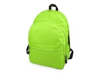 Рюкзак «Trend» с 2 отделениями на молнии и внешним карманом, салатовый