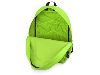 Рюкзак «Trend» с 2 отделениями на молнии и внешним карманом, салатовый, открытый