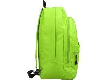 Рюкзак «Trend» с 2 отделениями на молнии и внешним карманом, салатовый, сбоку