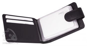Футляр для кредитных карт «Верона», черный, открытый