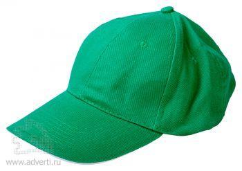 Бейсболка «Classic», зеленая с белым