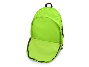Рюкзак «Trend» с 2 отделениями на молнии и внешним карманом, салатовый, открытый карман