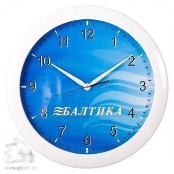 Часы круглые 500 мм, белый корпус